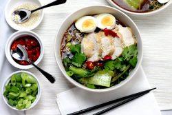 Hướng dẫn cách làm phở gà lowcarb – Ramen Nhật Bản