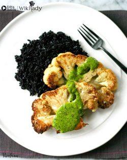 Món ăn Eat Clean: Bít-tết súp lơ và sốt rau thơm- chanh