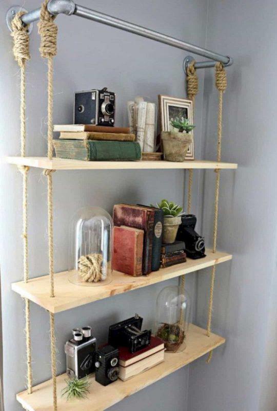 Kệ treo tường bằng gỗ đẹp