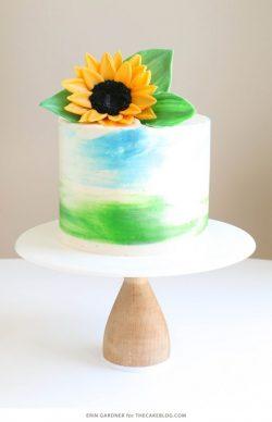 Hướng dẫn cách tạo hình hoa hướng dương trang trí cho bánh kem