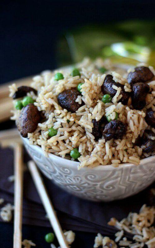 Cách làm món cơm nấm thơm ngon bằng nồi chiên không dầu