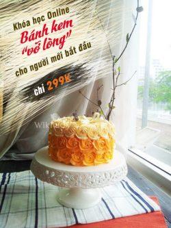 Học phí chỉ 299k nhân dịp ra mắt khóa học Online cơ bản về làm bánh kem - bánh ngọt