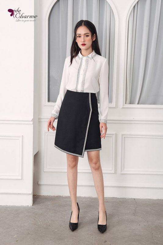 5 set sơ mi trắng kèm chân váy cho nàng công sở tha hồ thay đổi
