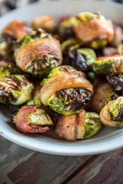Thịt xông khói gói bắp cải tí hon với nồi chiên không dầu siêu hấp dẫn