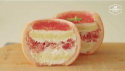 Cách làm và trang trí bánh kem hình trái bưởi trông như thật