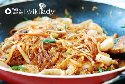 miến trộn hải sản Hàn Quốc thơm ngon