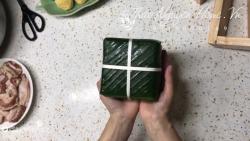 Cách gói bánh chưng bằng khuôn thông minh tiện lợi, ai cũng có thể làm được!