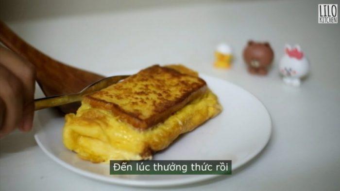 Làm bánh mì toast siêu nhanh trong 5 phút cho bữa sáng đủ chất