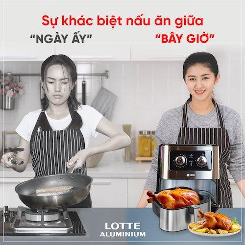 nồi chiên không dầu Lotte được áp dụng công nghệ xử lý mùi Nano để khử mùi thực phẩm.